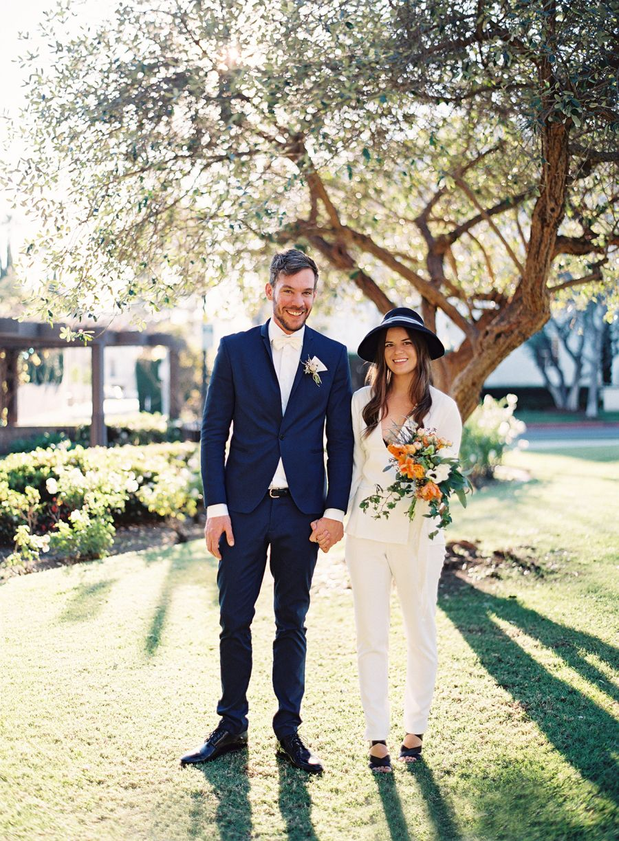 Bridal pantsuit courthouse wedding endless cool girl style