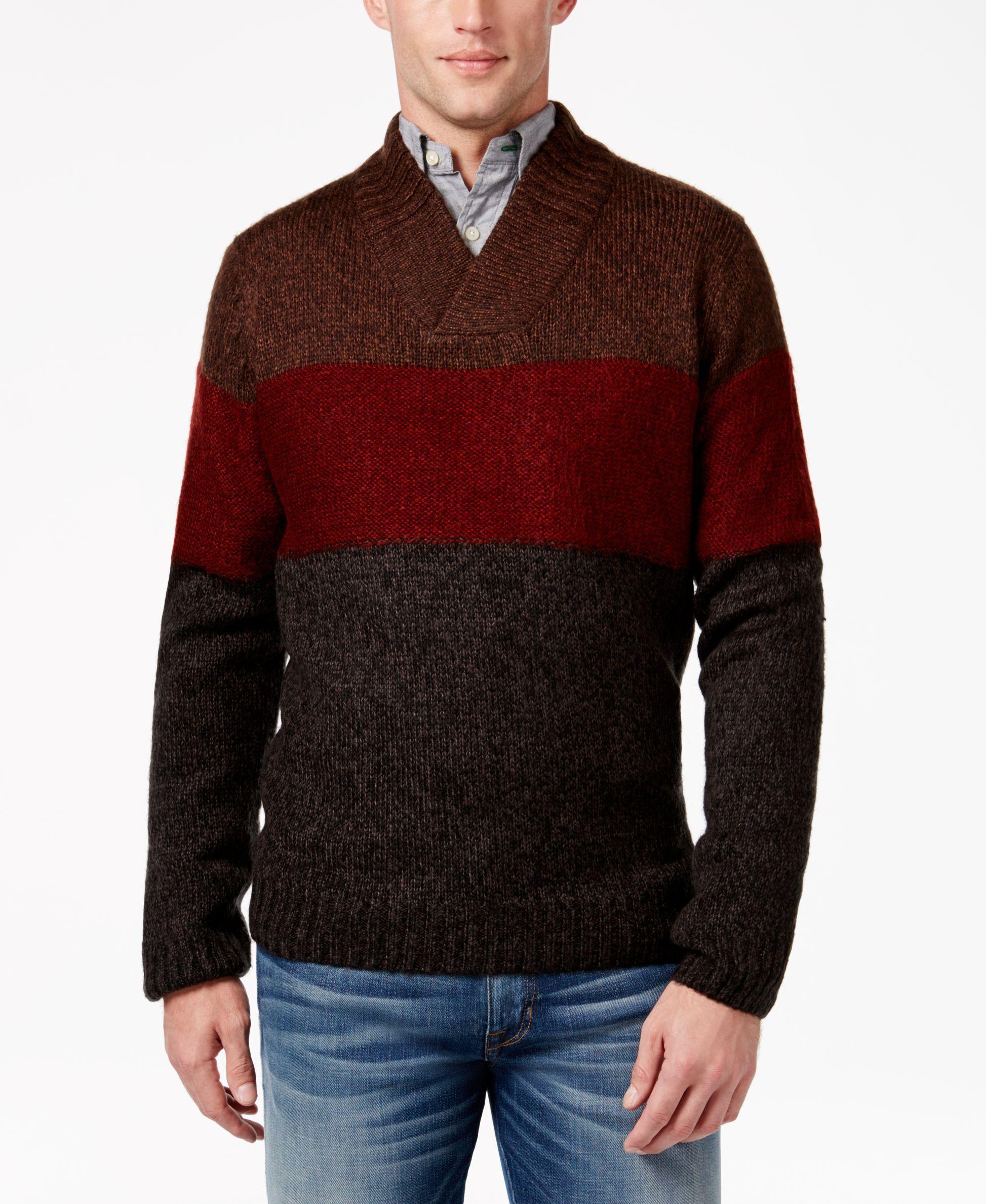 Tricots St Raphael Men's Colorblocked Shawl-Collar Sweater