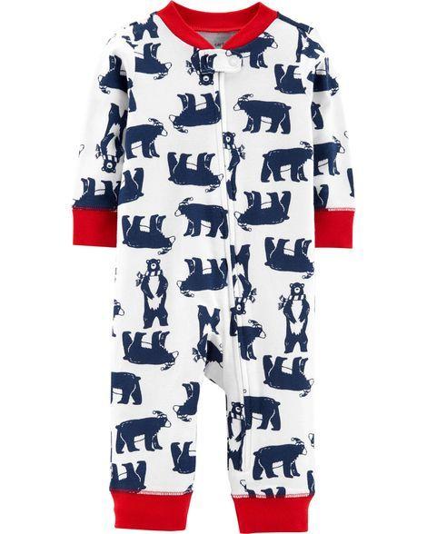 8d70f04c5 1-Piece Bear Snug Fit Cotton Footless PJs