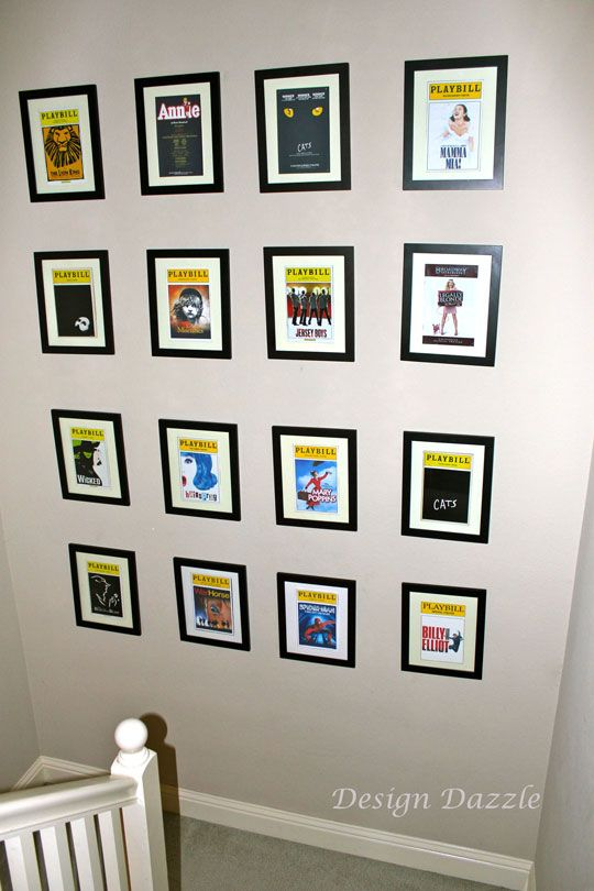 Playbills As Wall Art ~ so doing this along with Movie posters