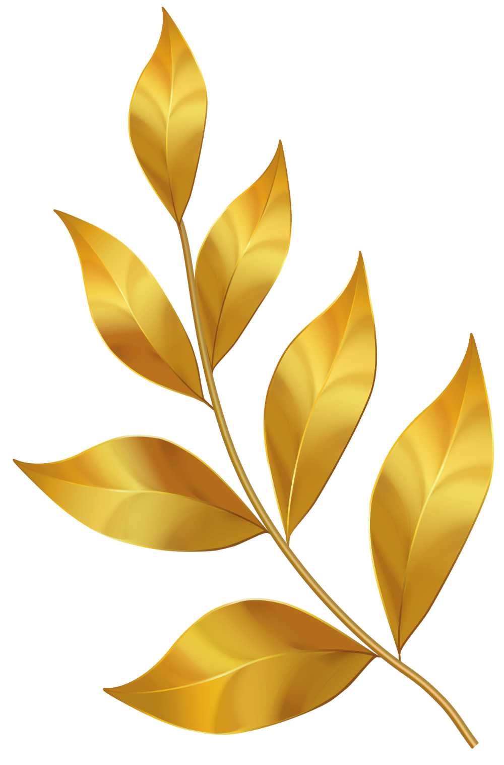 Gold Leaves Png Clipart Gallery Yopriceville High Quality Clipart Gallery Printable Leaves Digital Flowers