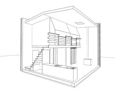 PlanDMaisonCubeBois  Maison Amenagements Details