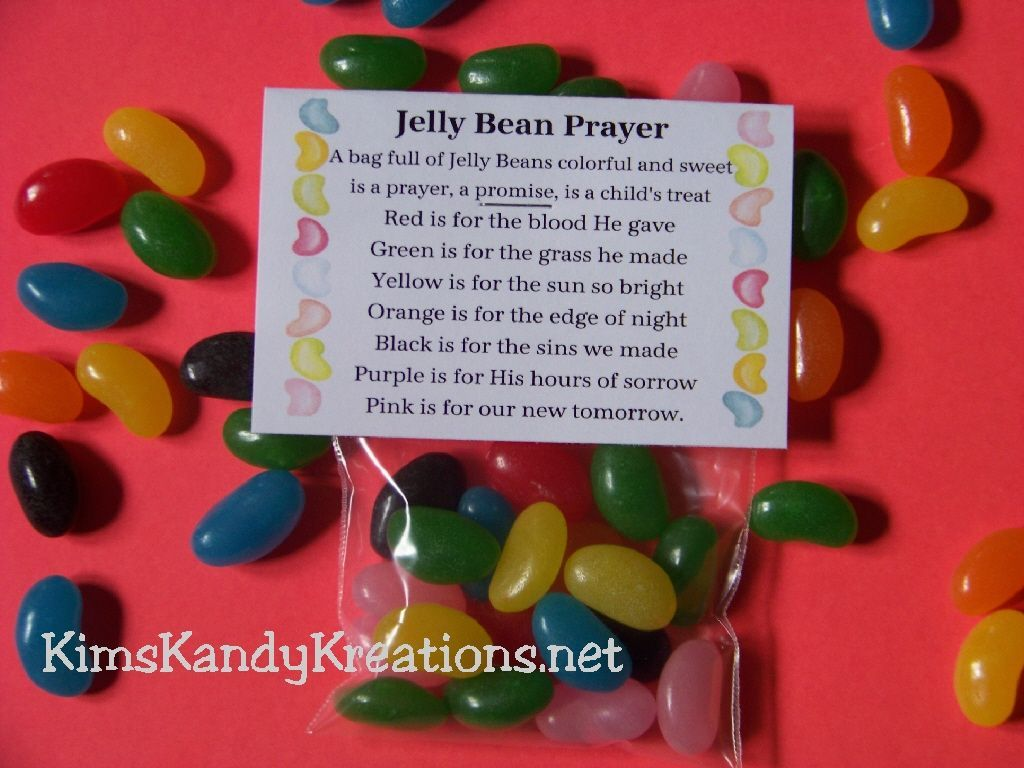 Easter Jelly Bean Prayer Candy Topper Printable File