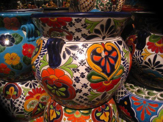 Mexican Benches Mexican Talavera Pottery Plant Stands Wrought