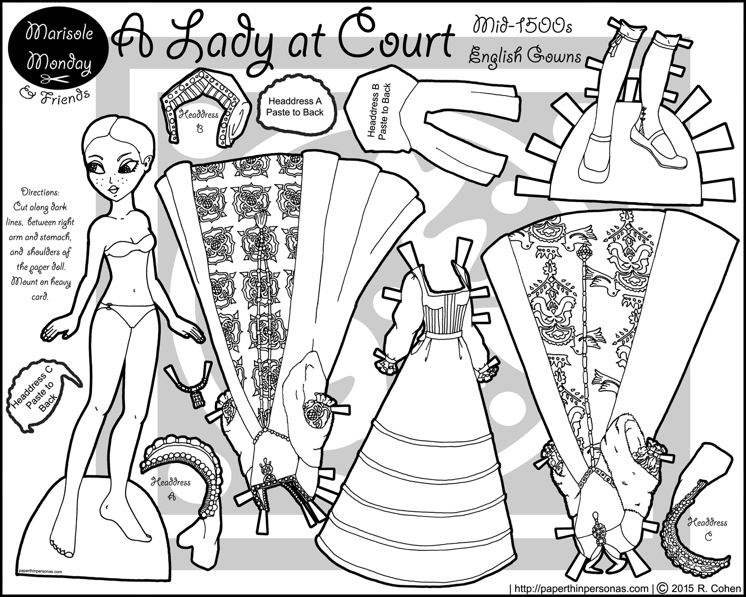 paper doll - Paper Doll Clothes Coloring Pages