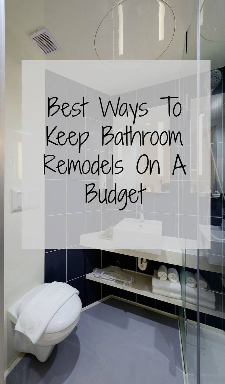Bathroom Remodels On A Budget How To Improve And Update Your - Thrifty bathroom remodel