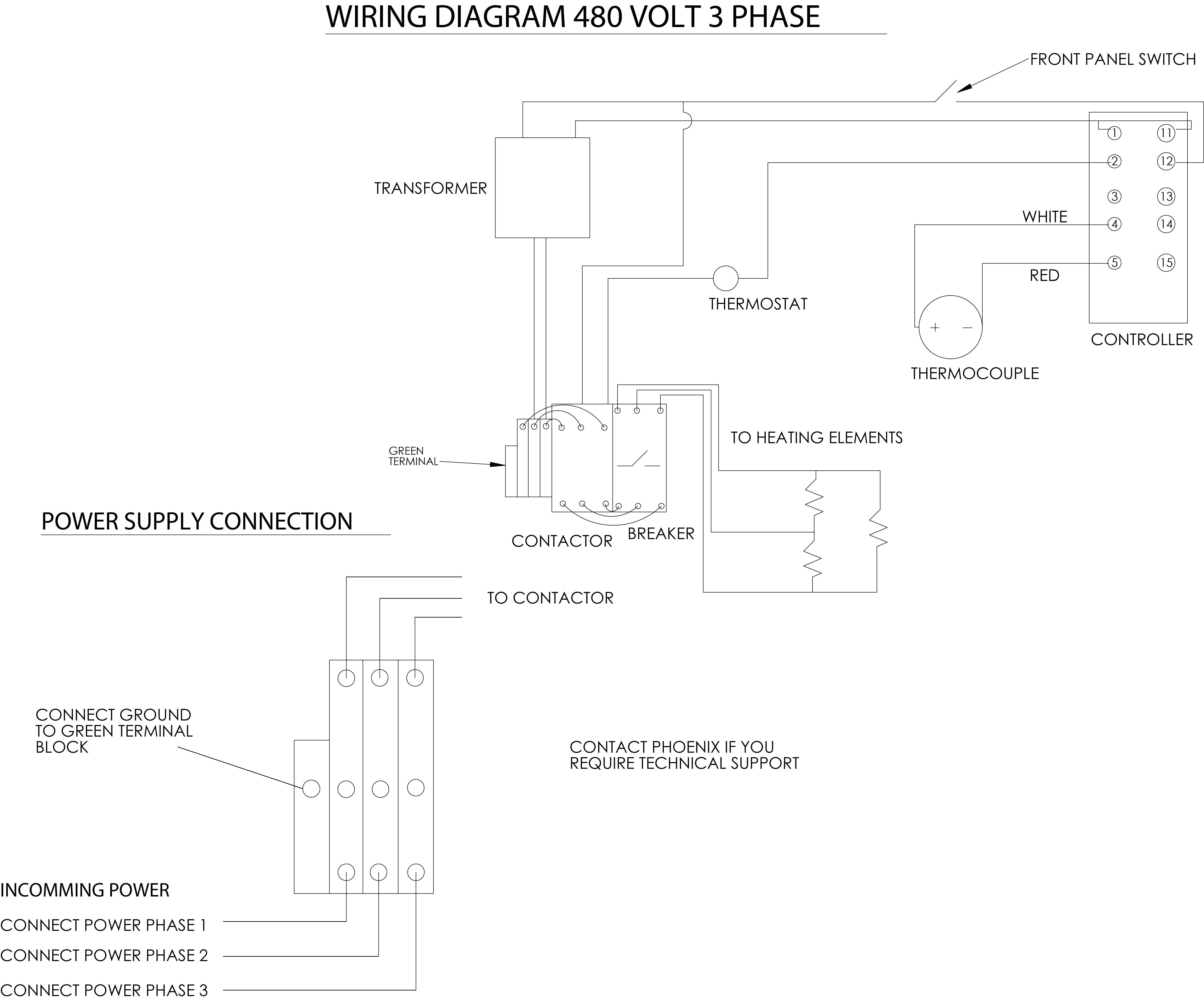 Contactor Wiring Diagram Single Phase from i.pinimg.com
