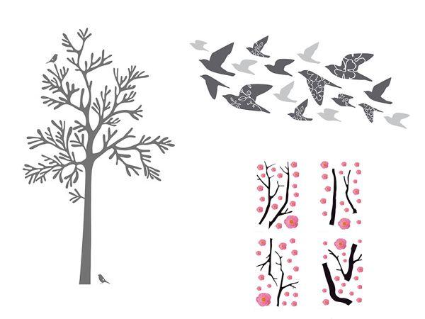 adesivi murali ikea | stickers | pinterest | stenciling - Stickers Murali Ikea