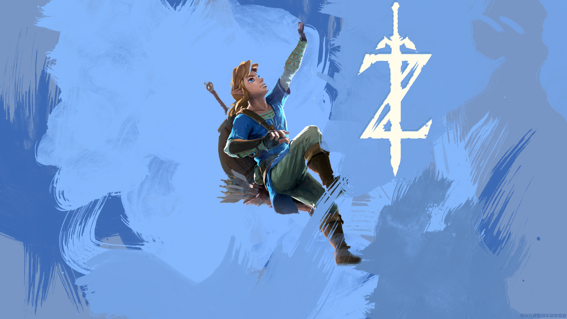 The Legend Of Zelda Breath Of The Wild Climbing Link Wallpaper