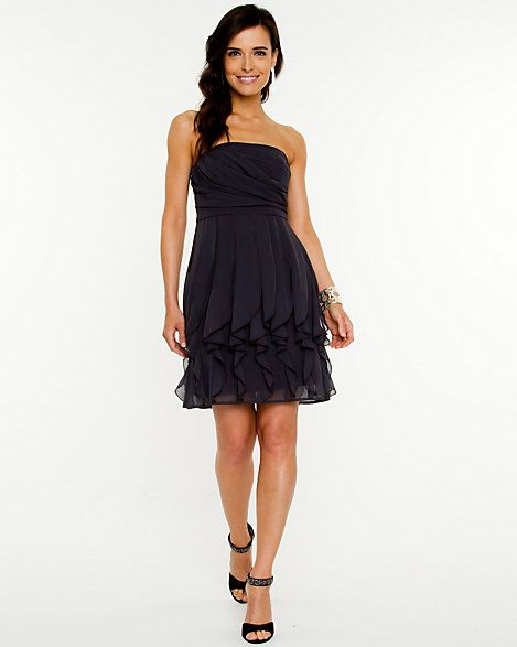 Chiffon Ruffle Fit and Flare Dress | Pinterest
