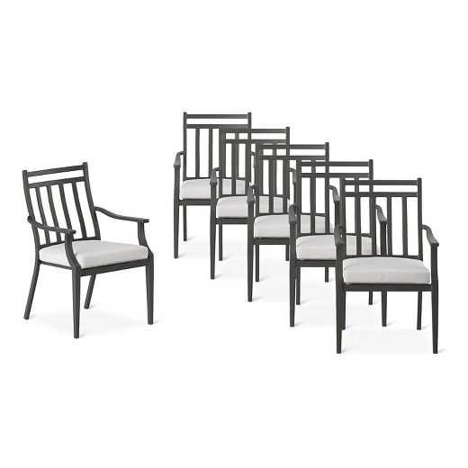 Fairmont Steel 6pc Patio Dining Chairs Threshold