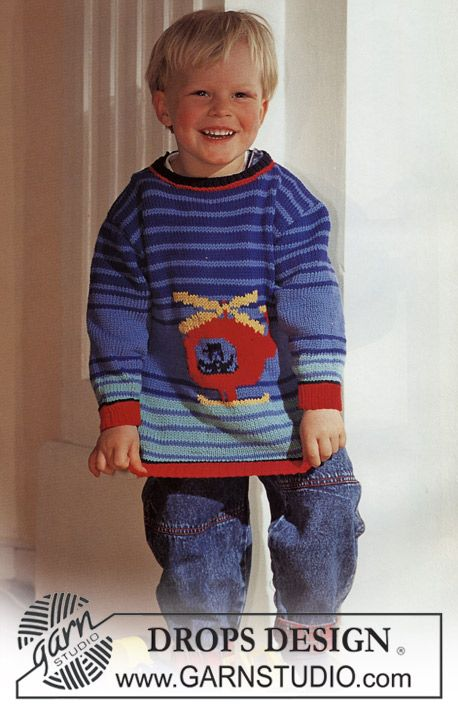 Sweater In Muskat With Helicopter Drops Design Baby Boy Knitting Patterns Drops Design Knitted Baby Clothes