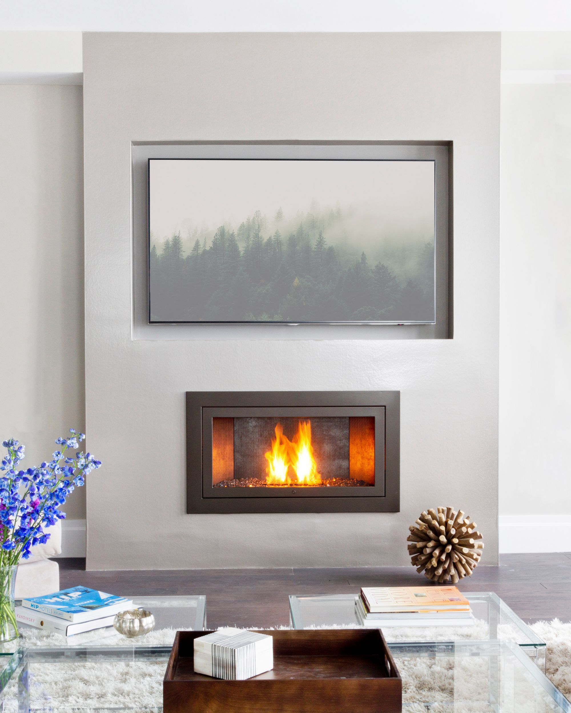 Enhance Any Room With A Hearthcabinet Ventless Fireplace No