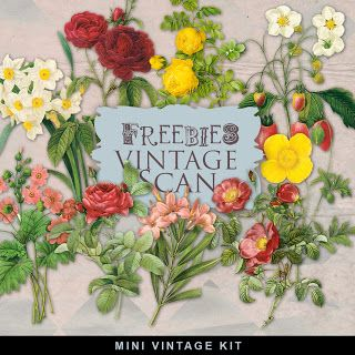 New Freebies Vintage Flowers- more beautiful flower images from Far Far Hill