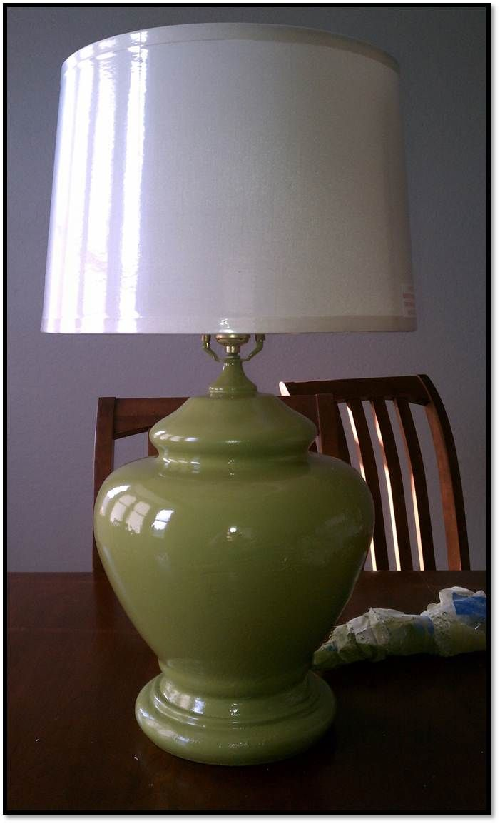 Remodelaholic Learning From Mistakes Lamp Makeover Lamp Makeover Lamp Redo Painting Lamps
