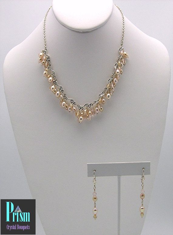 Baby Pink Freshwater Pearl Necklace Set