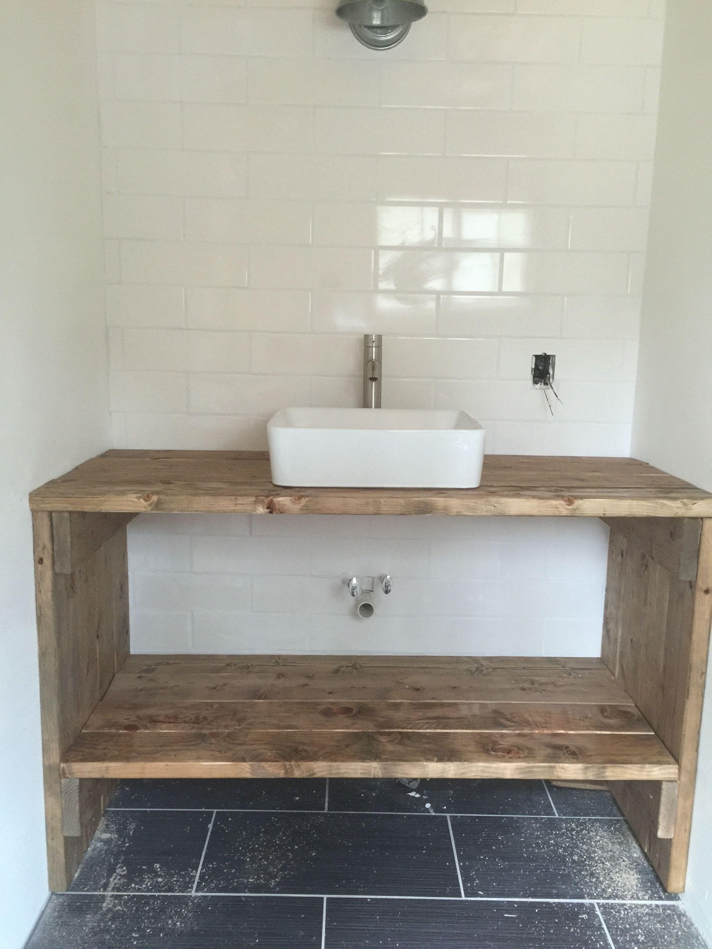 Homemade Vanity From 2x6 Boards In 2019 Diy Bathroom