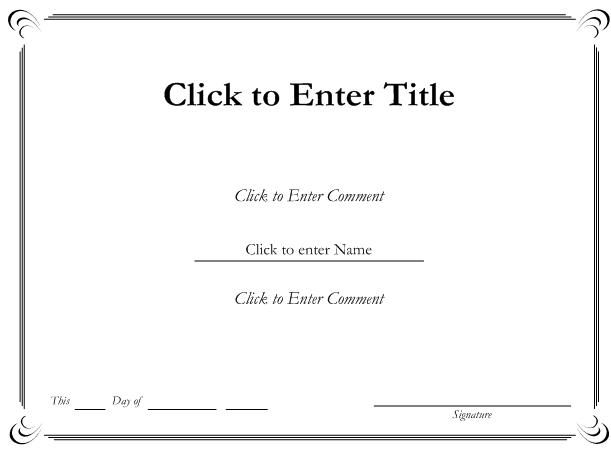 Word Certificate Templates Free Download  Certificate