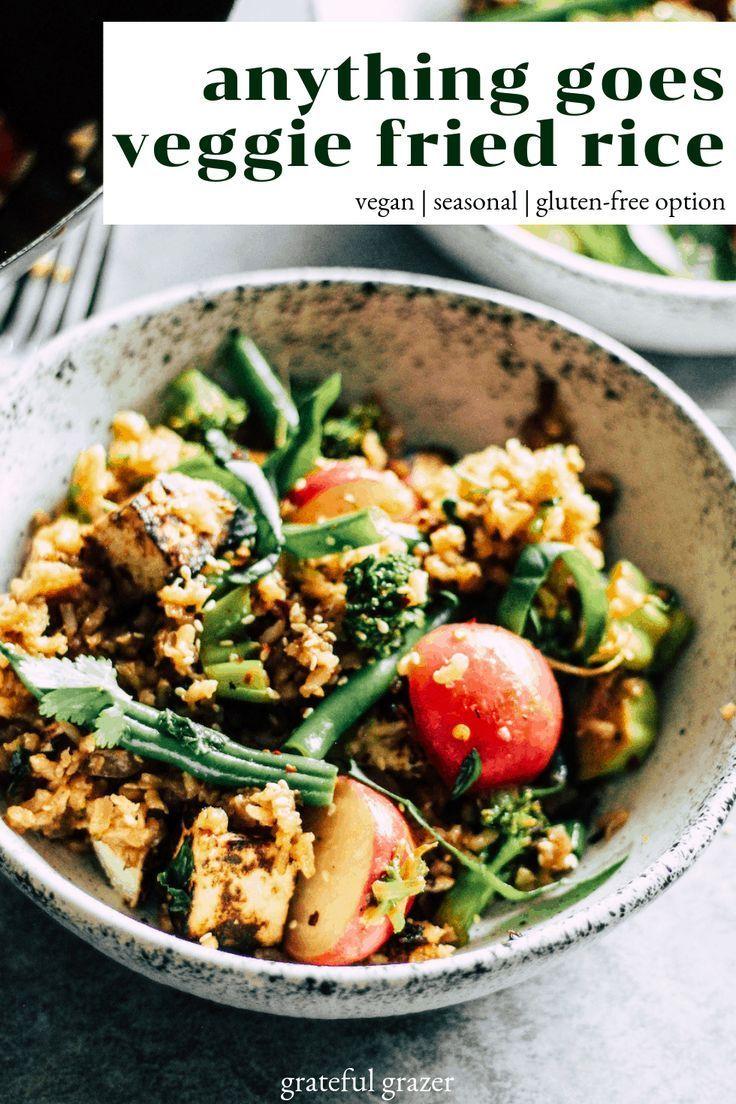 Anything Goes Veggie Fried Rice #seasonedricerecipes