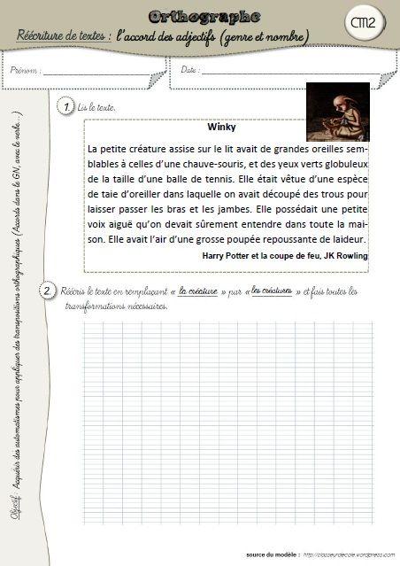 Des exercices de transposition en orthographe | Orthographe cm2, Exercice cm2, Orthographe