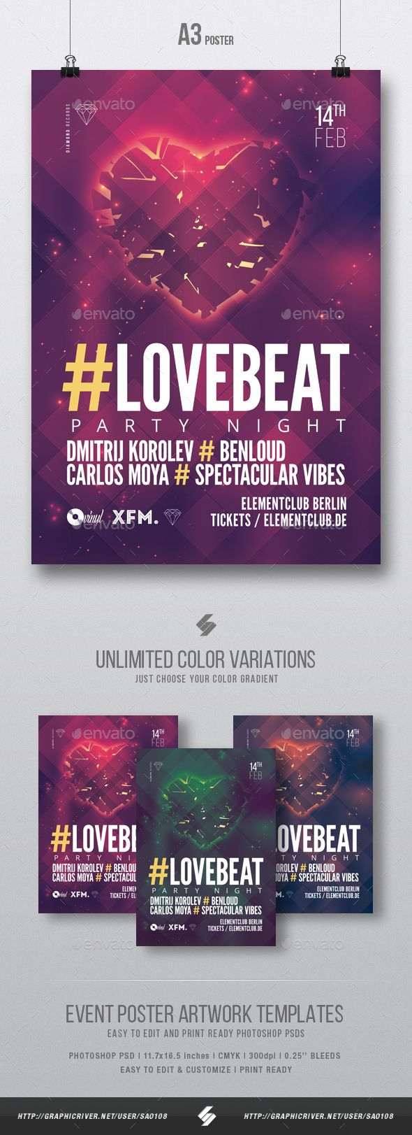 Love beat vol2 house music party flyer poster template a3 minimal deep house party flyer poster template love beat is a party flyer template for different subgenres of saigontimesfo