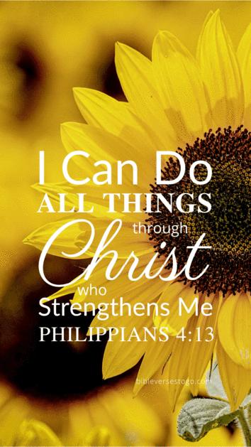 Sunflower Philippians 4:13 in 2020 | Bible verse wallpaper ...
