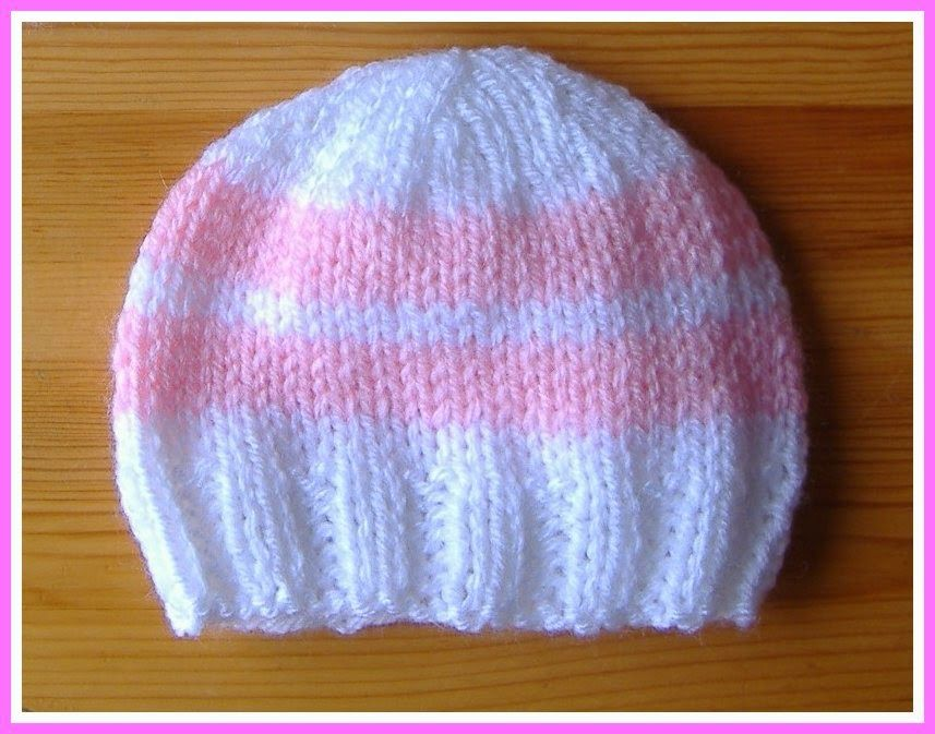 Simple Stripes Premature & Newborn Baby Hat ...