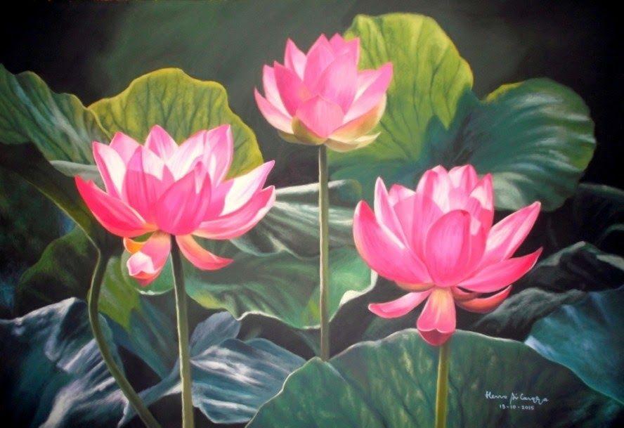 Fantastis 30 Gambar Lukisan Kartun Pemandangan Contoh Gambar Lukisan Bunga Teratai Lukisan Basuki Download Us 8 39 50 Off F Bunga Teratai Gambar Bunga Bunga