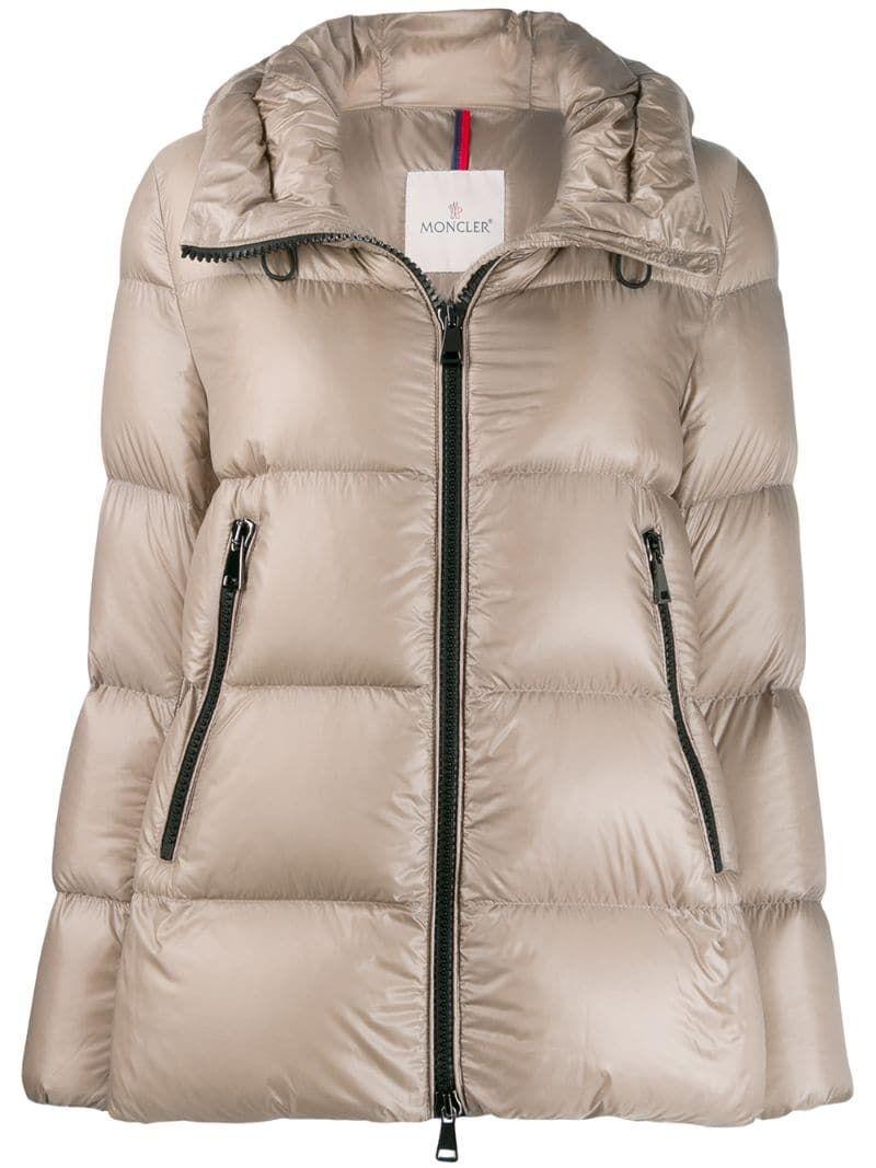 Moncler Seritte Glossy Puffer Jacket Neutrals Moncler Puffer Jackets [ 1067 x 800 Pixel ]