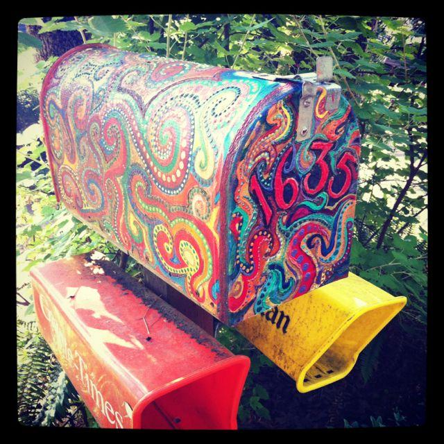 Coolest Mailbox Painted Mailboxes Mailbox Design Mailbox Decor