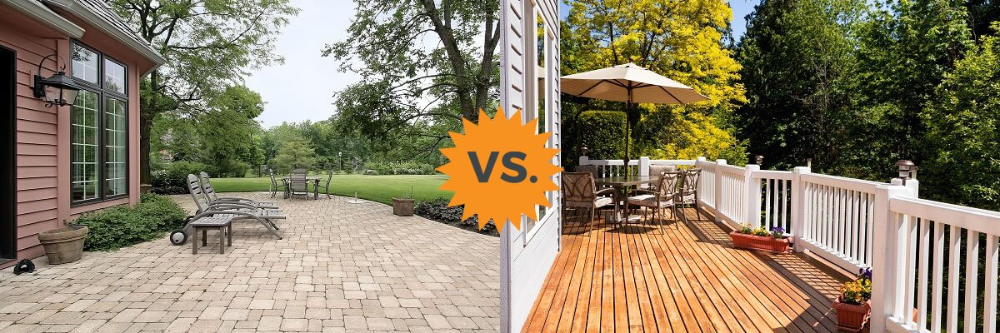2020 Deck Vs Patio Guide Costs Differences Concrete Or Wood
