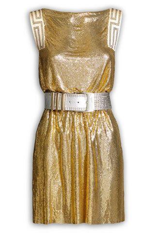 1ff41639537 Gold metallic dress