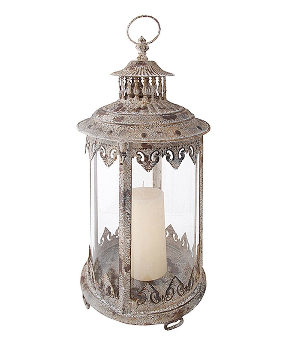 Look what I found on #zulily! Aged Metal Lantern by Esschert Design #zulilyfinds