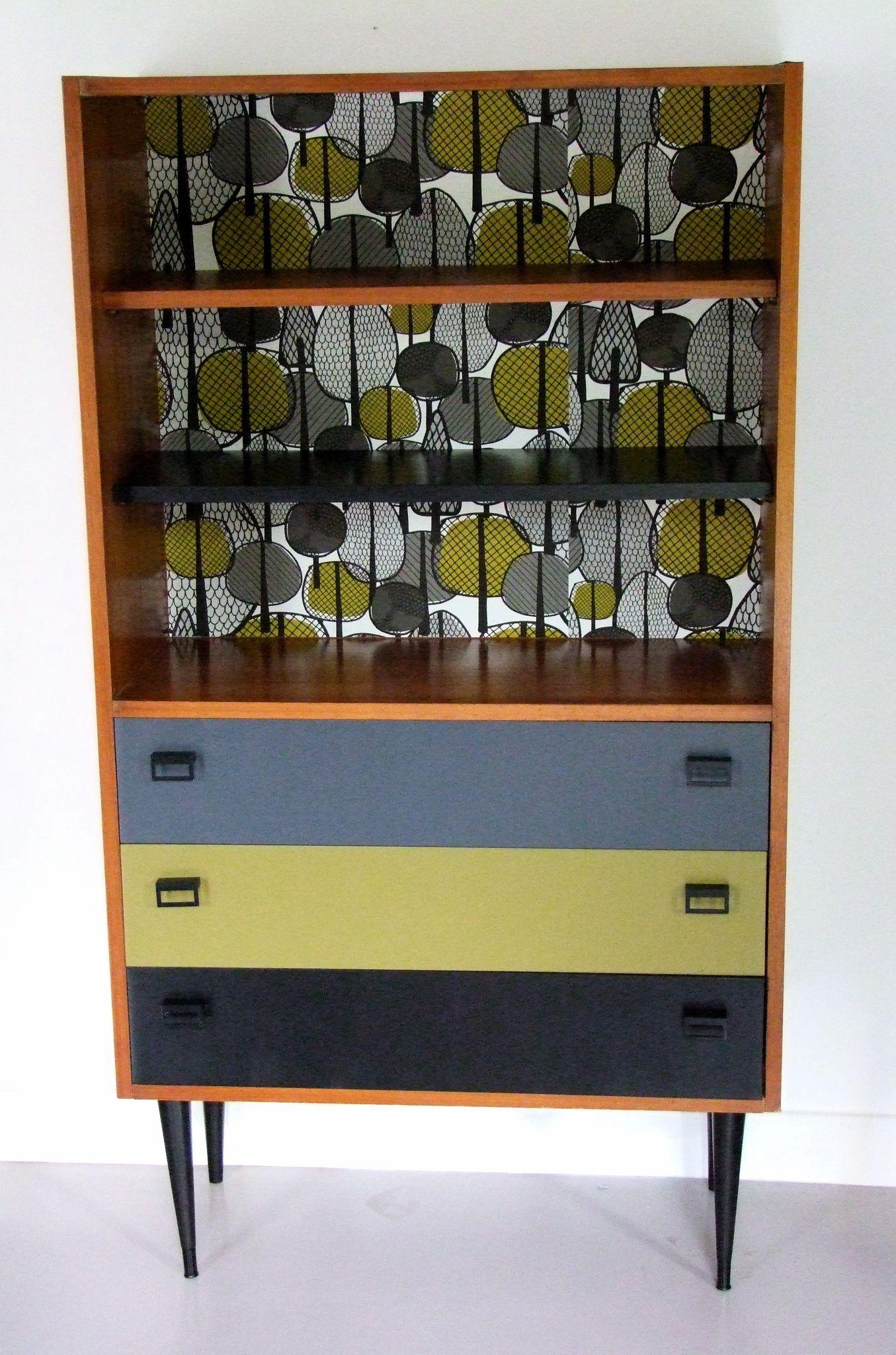 Bibliotheque commode annees 60 biou meubles vintage pataluna chin s d nich s et d lur s - Meubles chines ...