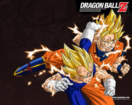 GOKU VS MAJIN VEGETA DRAGON BALL Z