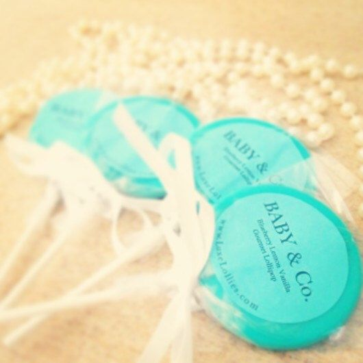 Tiffany's Inspired Gourmet Lollipops  - Set of 20 - Tiffany's Baby Shower Favors - Tiffany's Bridal Shower - Tiffany Blue by LuxeLollipops on Etsy https://www.etsy.com/listing/156013537/tiffanys-inspired-gourmet-lollipops-set