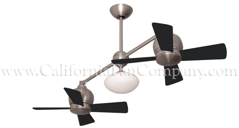 Metropolitan Small Double Ceiling Fan California Fan Co Double Ceiling Fan Ceiling Fan Fan Double ceiling fan with light
