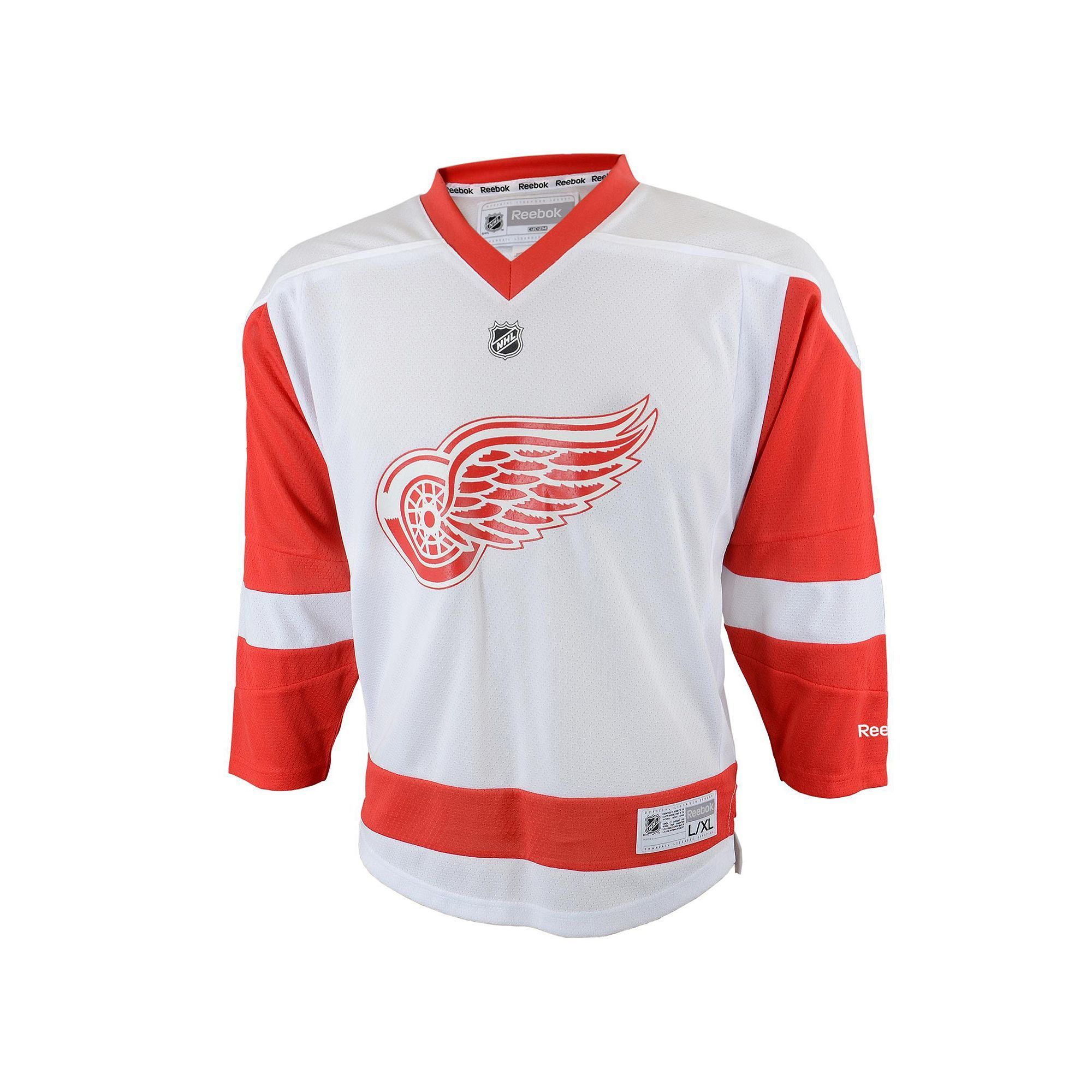 sports shoes 9550b 1e053 Baby Reebok Detroit Red Wings White Replica Jersey ...