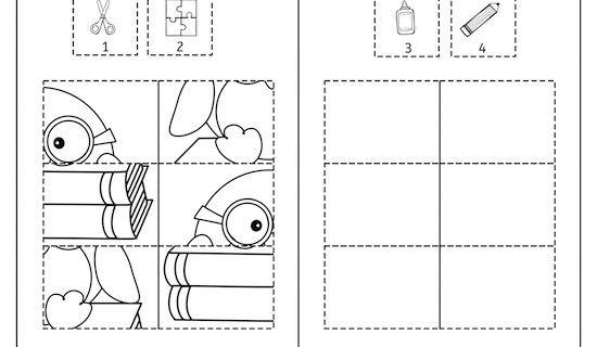 pnguin puzzles ausschneiden kleben ausmalen feinmotorik pinguine legasthenie dyskalkulie. Black Bedroom Furniture Sets. Home Design Ideas
