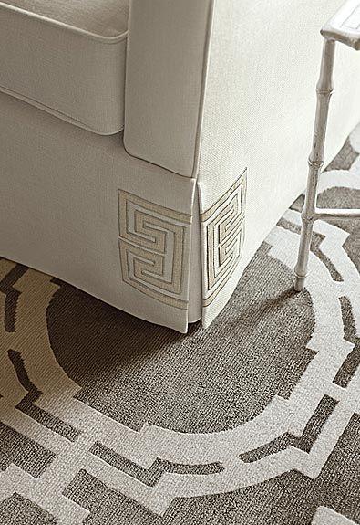 Furnish Fabulously. Details. Interior Designer: Mary McDonald for Schumacher