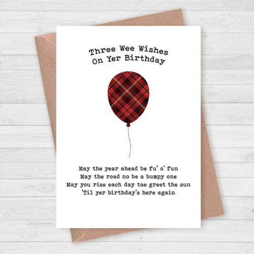 Scottish Birthday Card Tartan Funny Slang Poem 3 Wee Wishes Ebay Birthday Cards Funny Birthday Cards Birthday Cards For Men