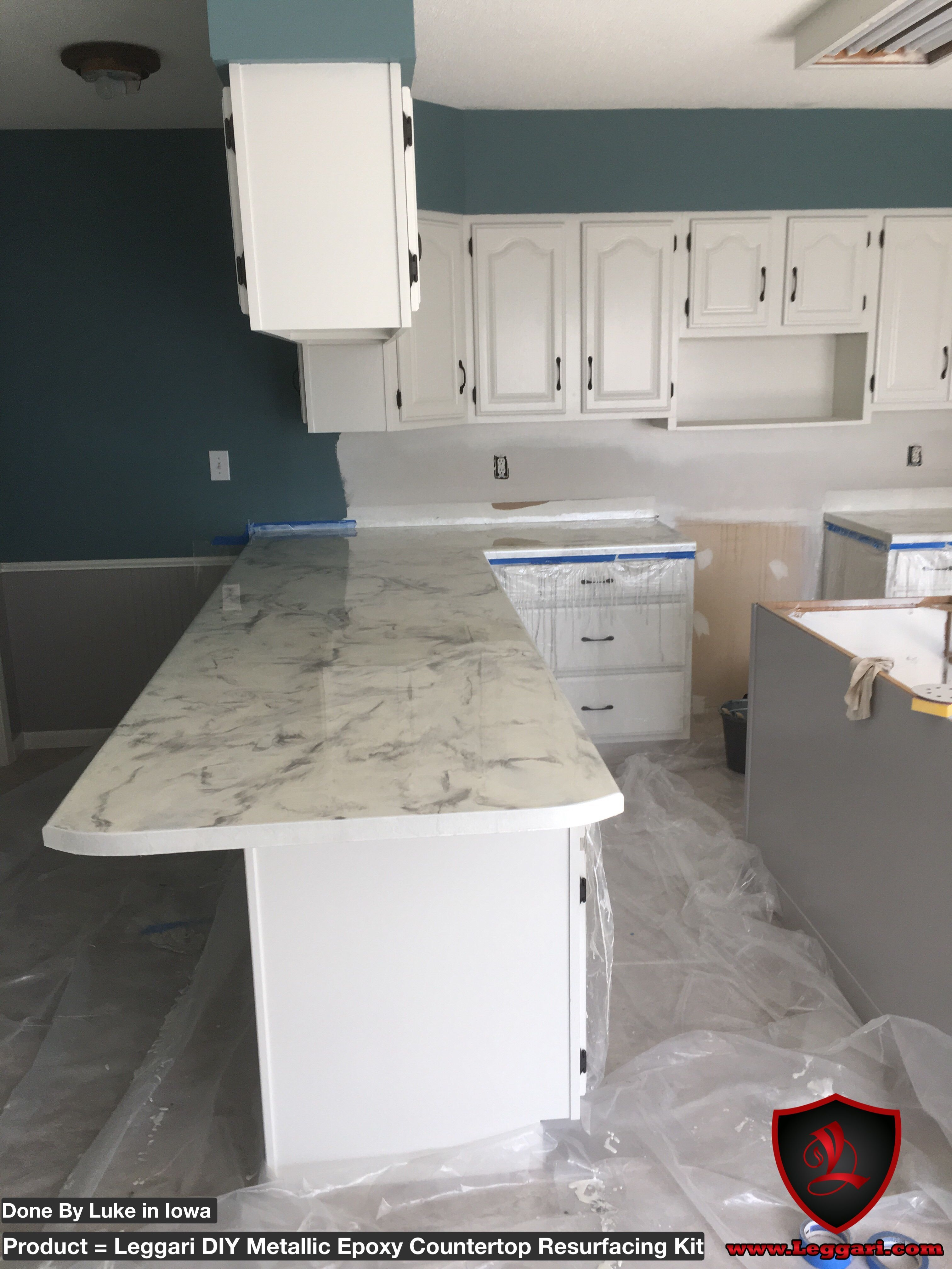 We Have The Perfect Solution For High End Countertops With Out The High End Prices Get Your Diy Metallic Kitchen Countertops Diy Countertops Kitchen Design