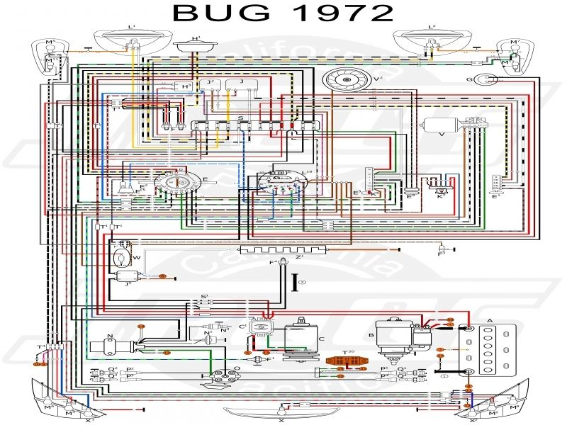 1972 vw wire harness schematic  wiring diagram electron