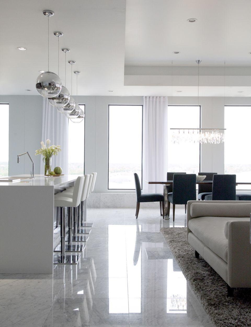 Great Room Modern Living Room Images By Threshold Goods Amp Design Llc Wayfair House Interior Living Room And Kitchen Design Minimalist Living Room