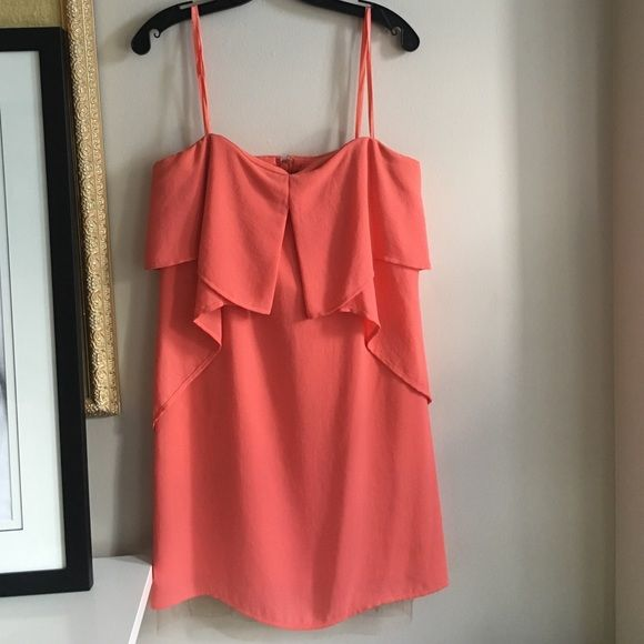 BCBG Runway strapless dress Full dress with a tan the mesh lining the bottom worn once for homecoming can be taken and has a built-in bodice on top BCBG Dresses Mini