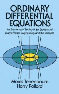 ordinary differential equations tenenbaum pollard