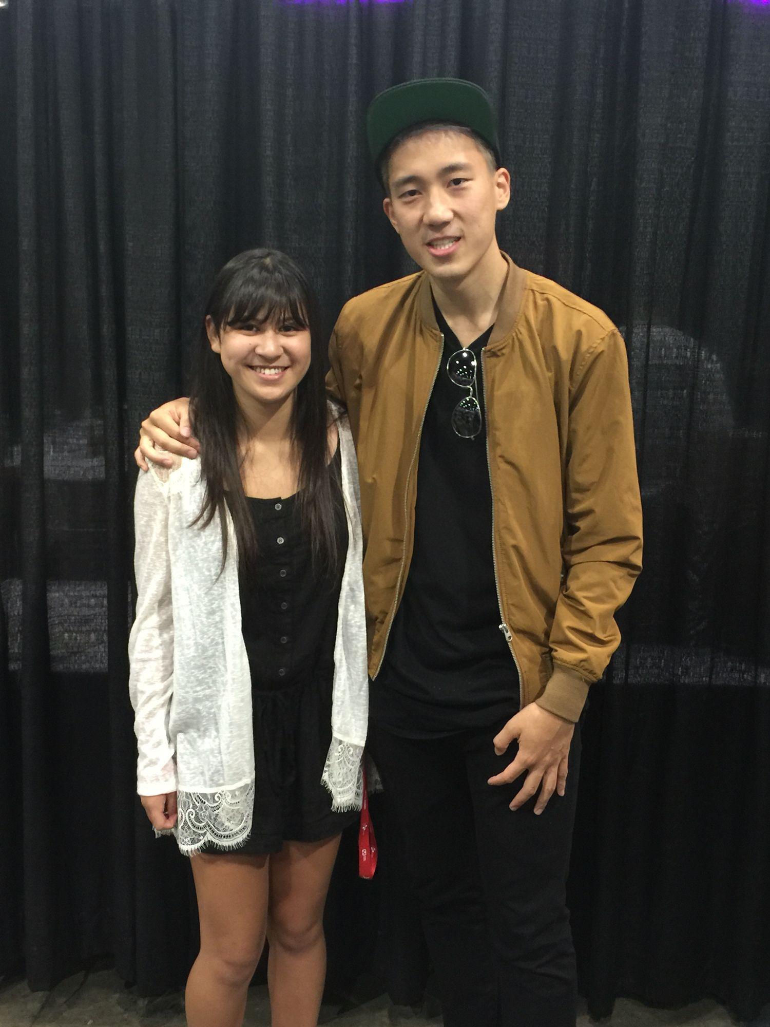 Megan with Steve Lim KCON LA 2016🇰🇷