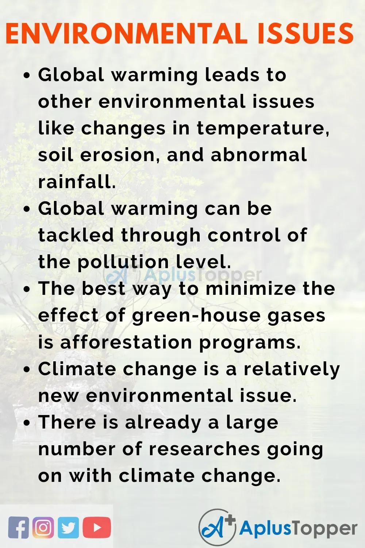 Essayonenvironmentalissue Environmentalissuesessay Aplustopper In 2020 Environmental Issue Essay Problem Global