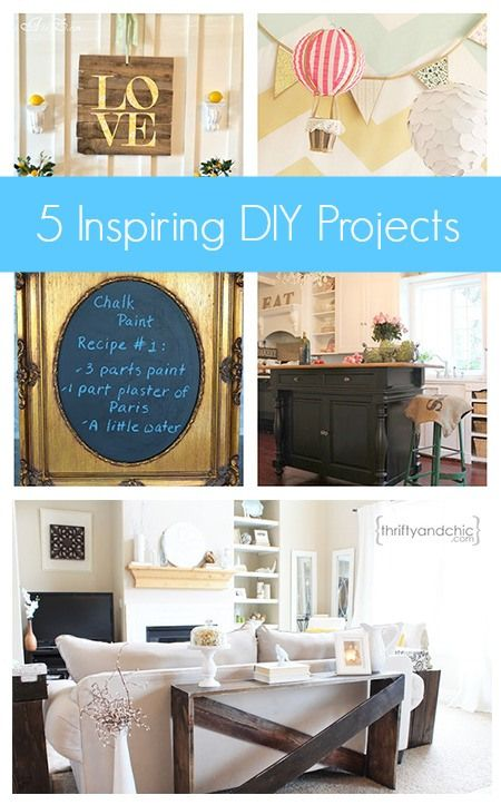 Click Here for 5 Inspiring #DIYProjects  http://upcycledtreasures.com/2013/06/5-inspiring-diy-projects/