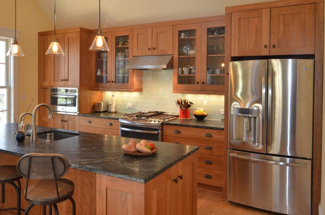 Cabinet Ideas Natural Maple Kitchen Cabinets Lovely Paint Light Quality And Flooring With Marble C Maple Kitchen Maple Kitchen Cabinets Cherry Cabinets Kitchen